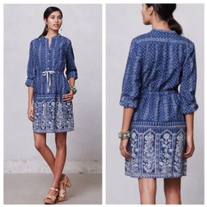 Anthropologie Meadow Rue | Indigo Anila Dress